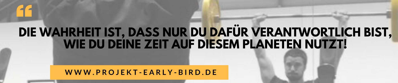 mehr Zeit gewinnen Zitat Projekt Early Bird