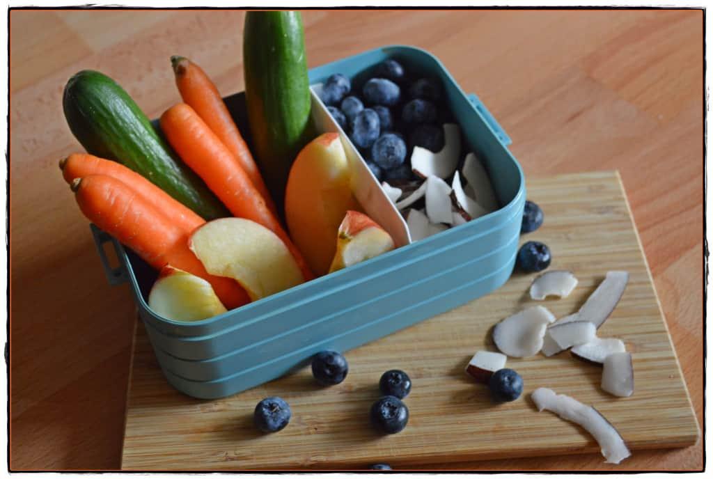 gesunde Snackbox Gemüse