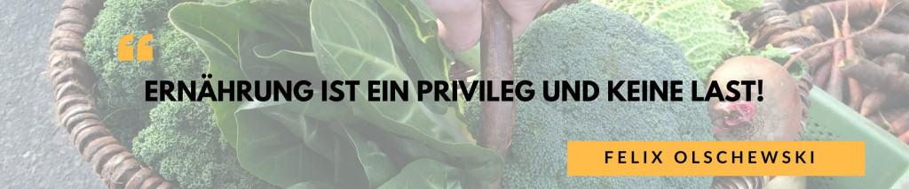 Ernährung als Privileg