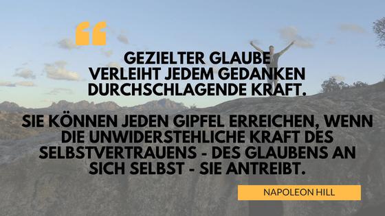 Zitat Napoleon Hill Glaubenssatz