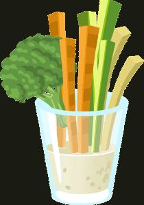 Low Carb Gemüsesticks