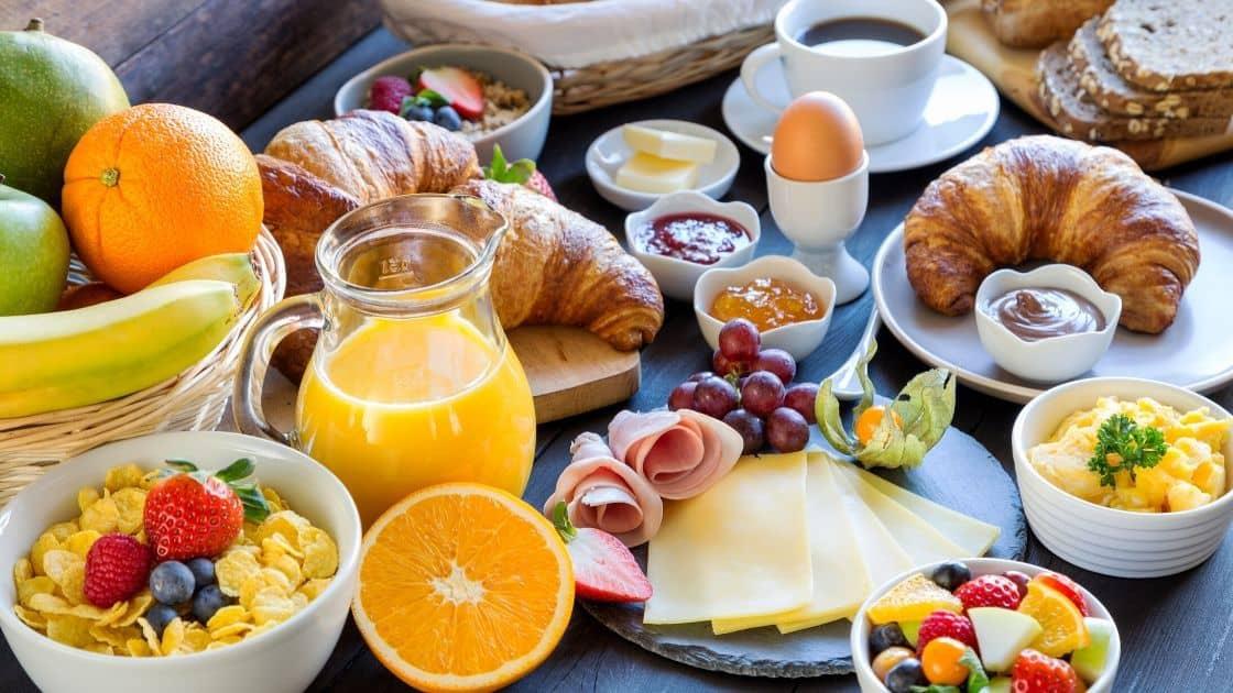 Ungesundes Frühstück